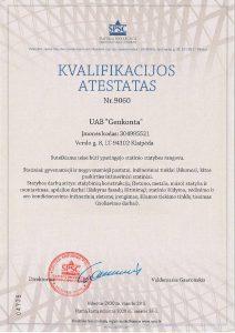 Genkonta kvalifikacijos atestatas 2020
