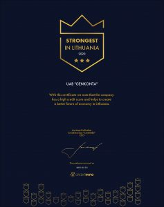 Creditinfo certificate 2020